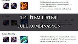 TFT İtem Listesi-Full Kombinasyon Rehberi